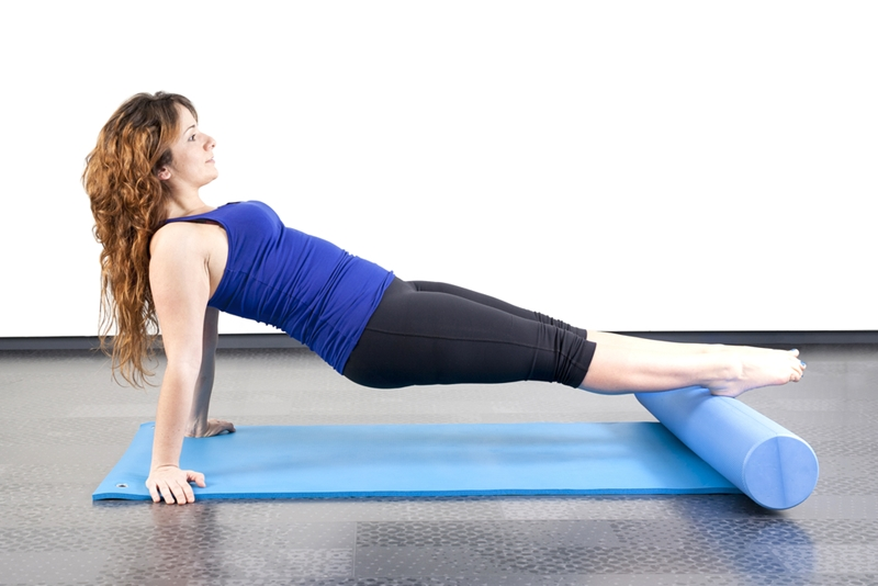 A foam roller can help you stretch your calves after hours in high heels.